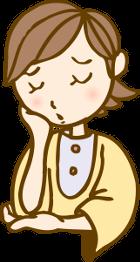 肩こり、腰痛、頭痛などの症状に悩む女性
