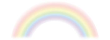元気になって明るい未来を想像させる虹