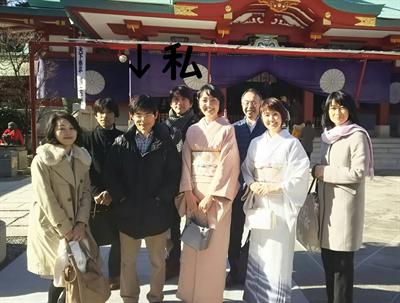 神社での院長吉田