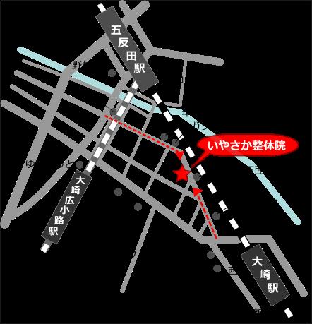 地図 東京都品川区大崎5-4-7 101B