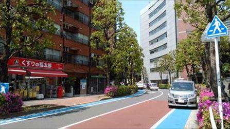 大崎駅西口から右手に進む
