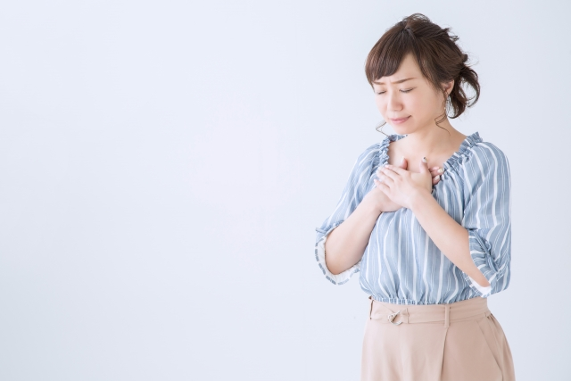 自律神経失調症で悩む女性